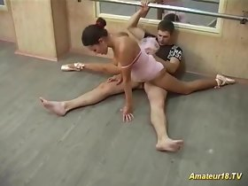 flexi sexual connection with young busty ballerina